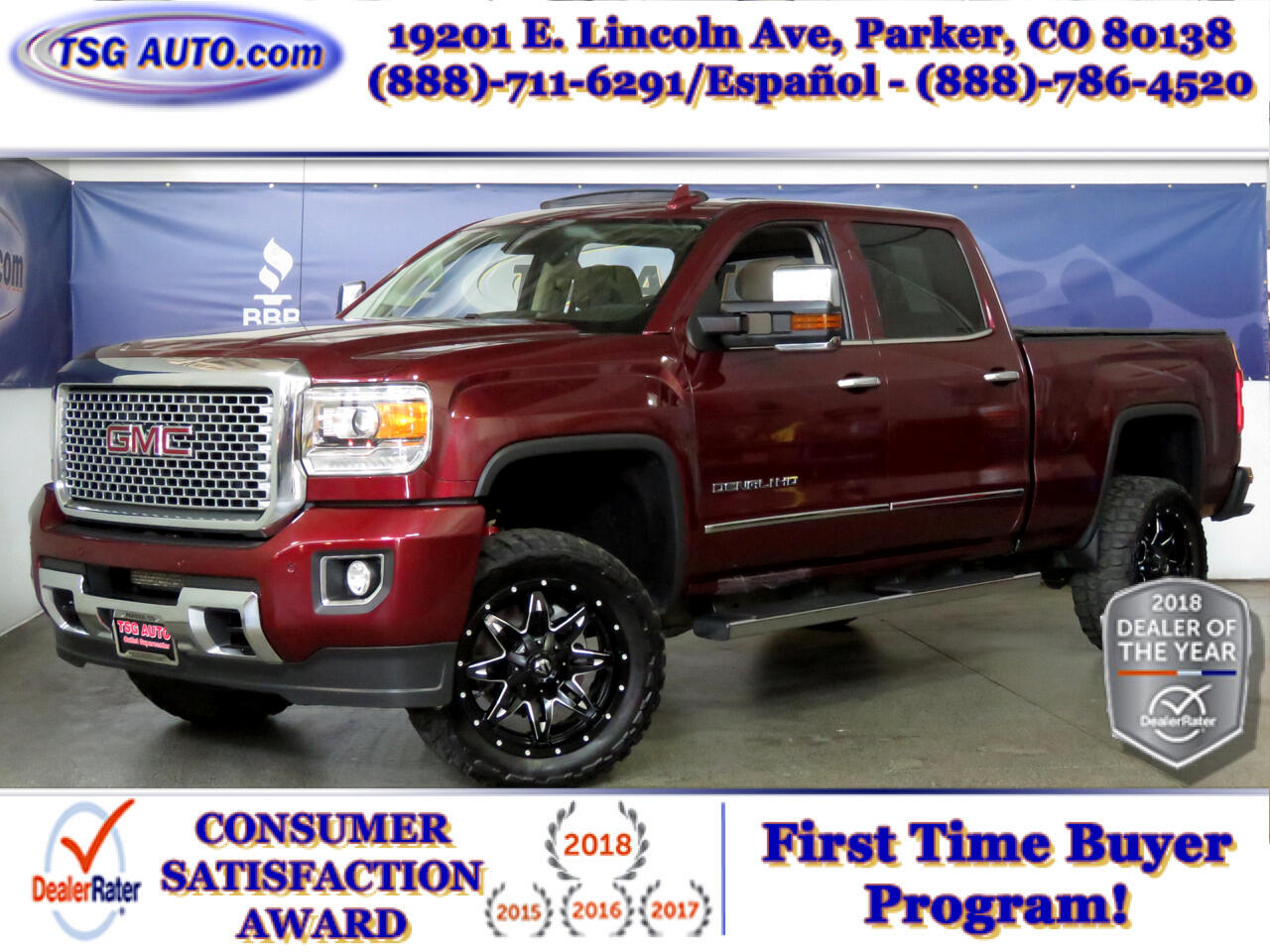 "2016 GMC Sierra 2500HD 4WD Crew Cab 153.7"" Denali Cstm Lift/Wheels/Tires"