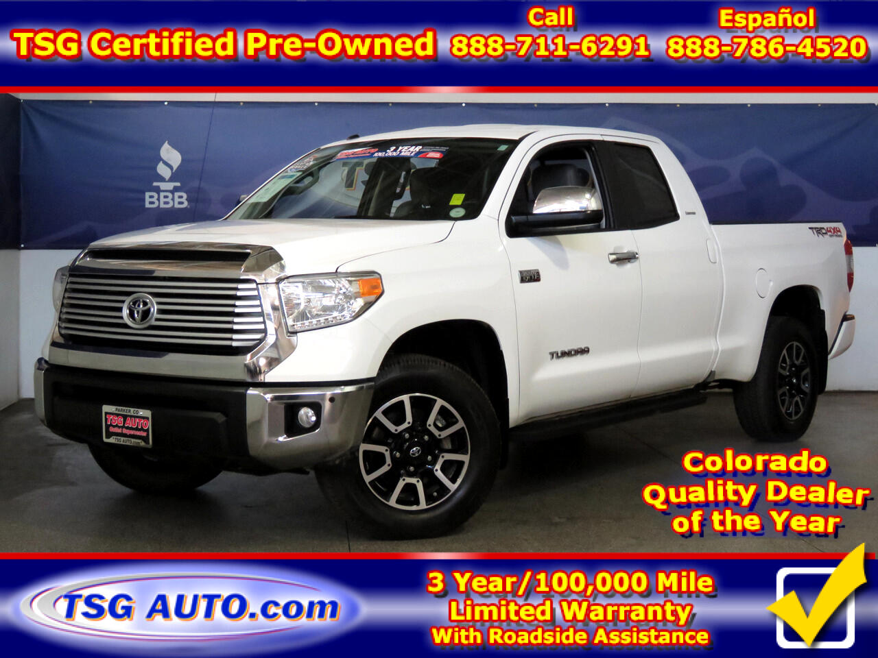 2017 Toyota Tundra 4WD Limited Double Cab 6.5' Bed 5.7L FFV (Natl)