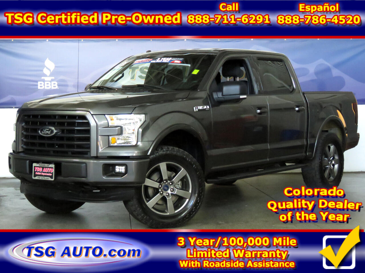 "2016 Ford F-150 4WD SuperCrew 145"" XLT W/Custom Lift"