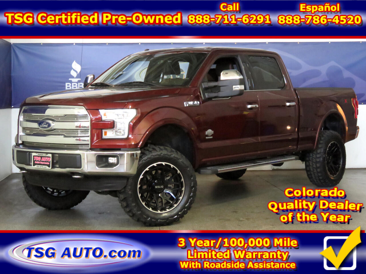 "2016 Ford F-150 4WD SuperCrew 145"" King Ranch W/Lift/Wheels/Tires"