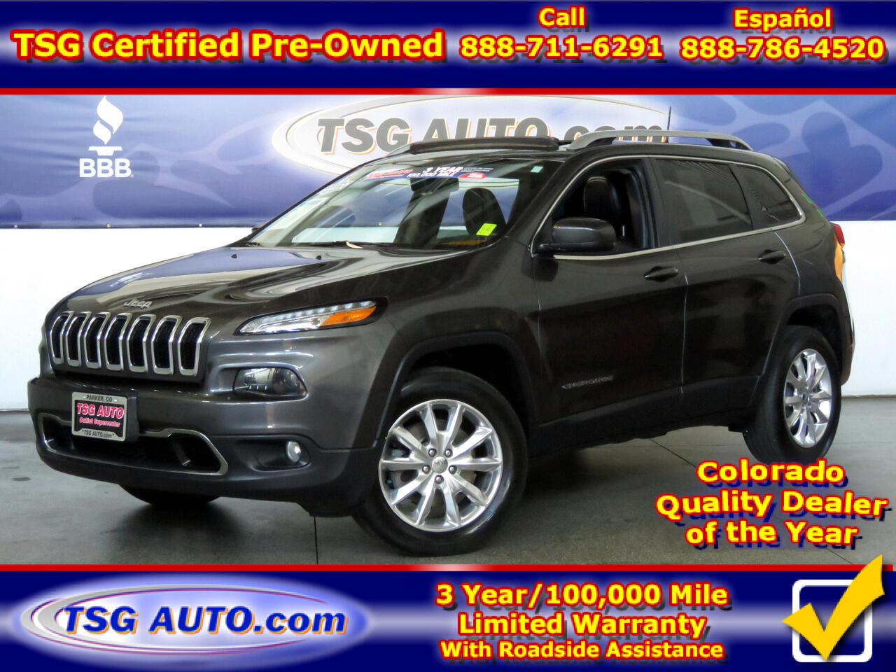 2016 Jeep Cherokee 4WD 4dr Limited W/SunRoof
