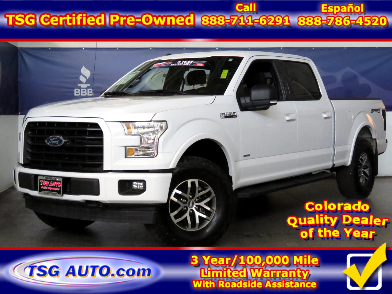 "2017 Ford F-150 4WD SuperCrew 157"" XLT Sport W/lift"