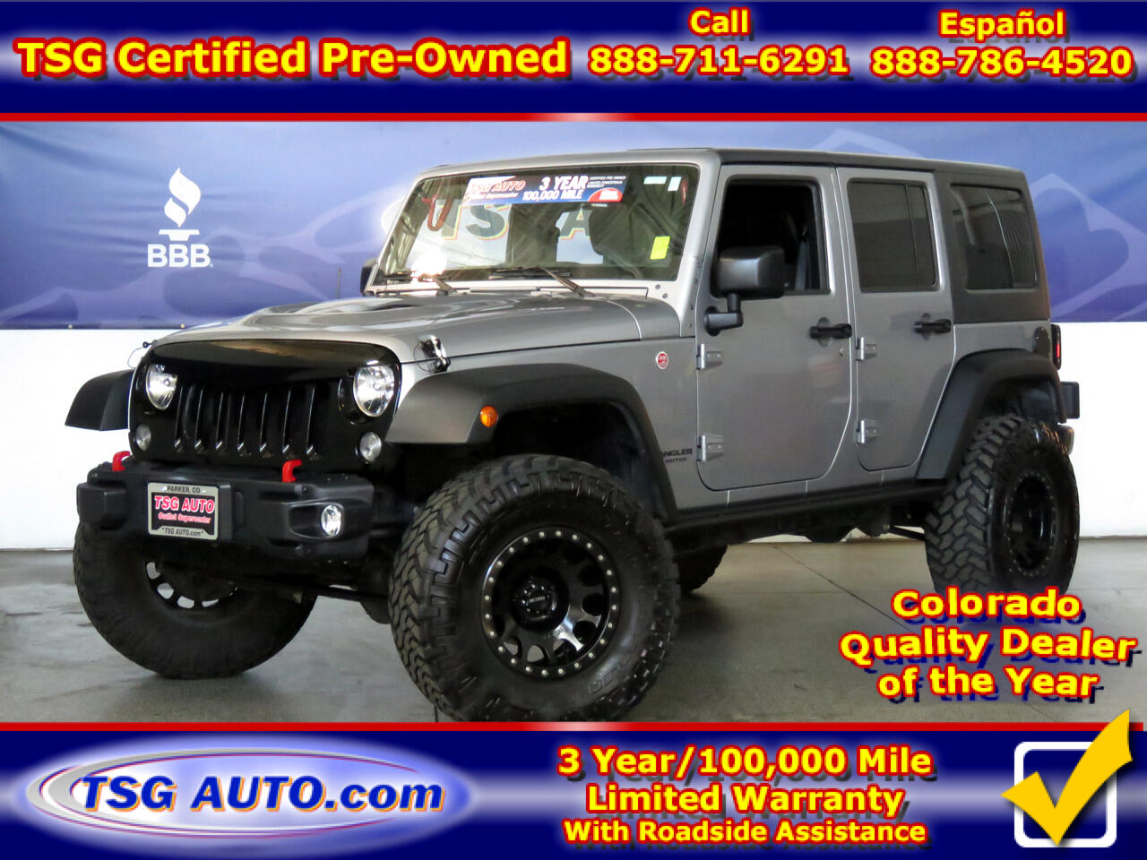 2016 Jeep Wrangler Unlimited 4WD 4dr Rubicon W/Custom Lift/Wheels/Tires