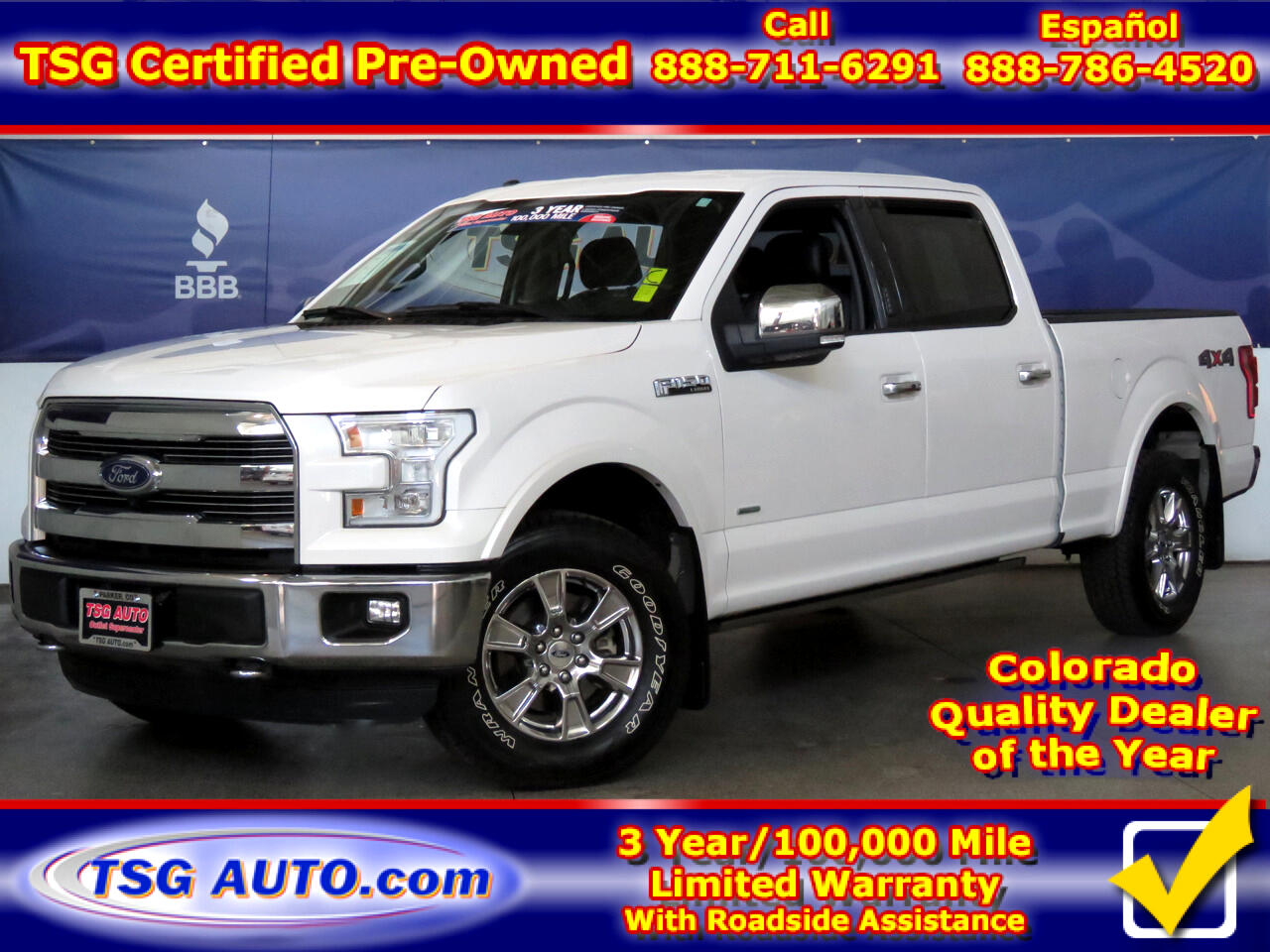 "Ford F-150 4WD SuperCrew 157"" Lariat 2015"