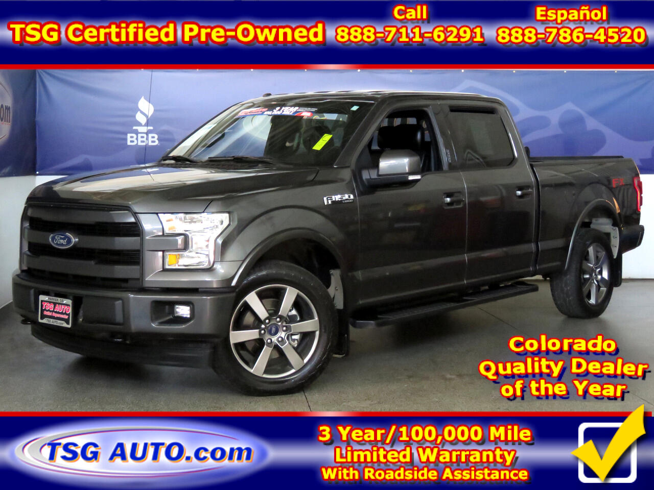 "2017 Ford F-150 SuperCrew 157"" Lariat 4WD"
