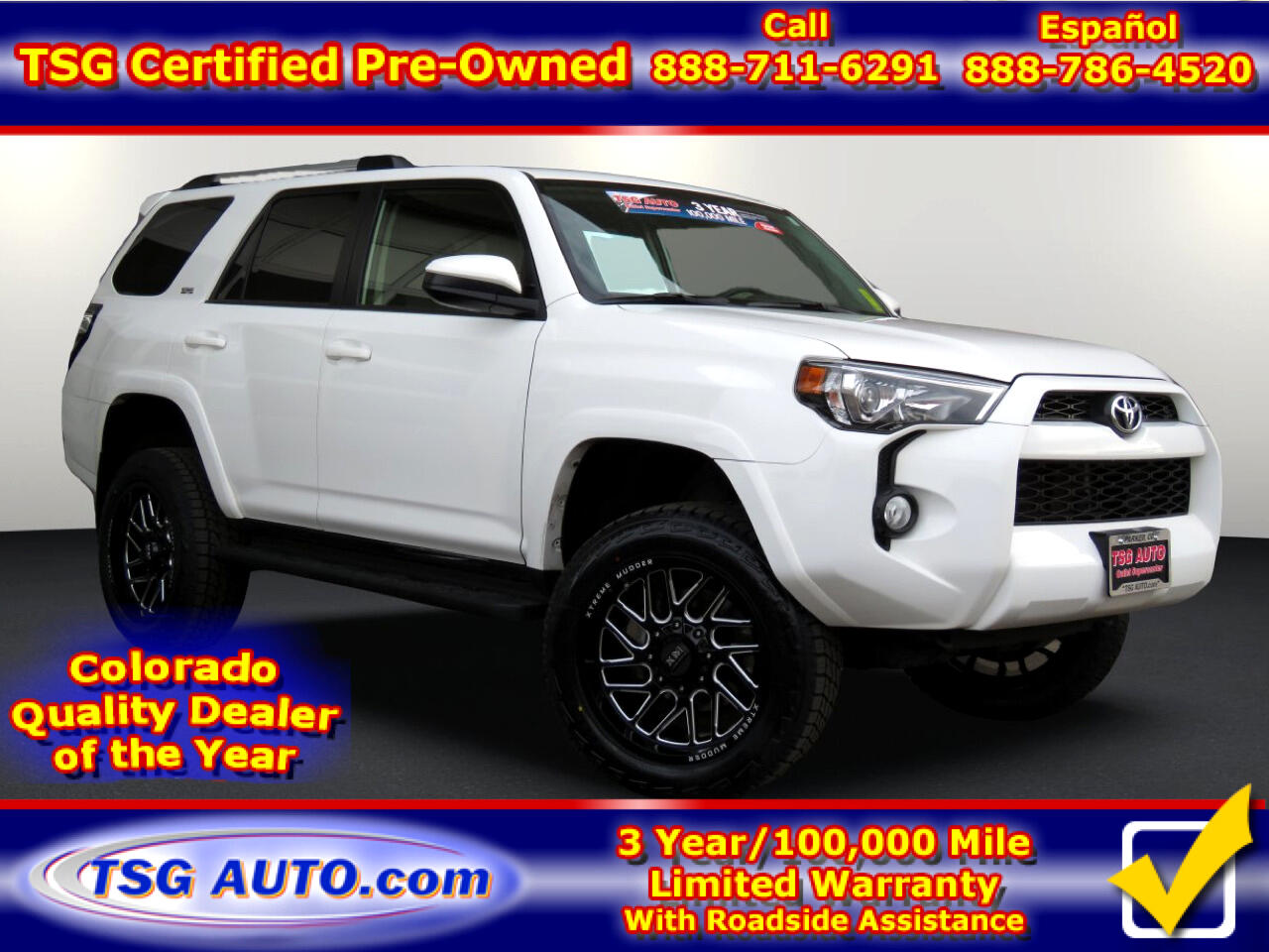 2019 Toyota 4Runner SR5 4WD V6 w/custom lift/wheels/tires