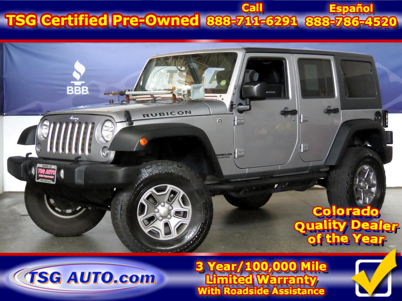 2016 Jeep Wrangler Unlimited 4WD Rubicon W/Custom Lift/Running boards