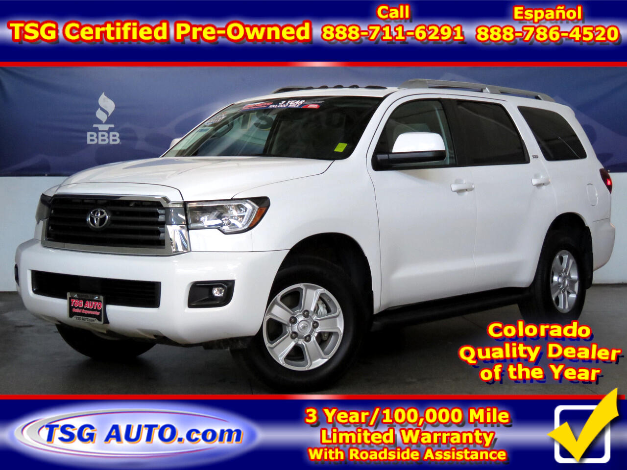 2019 Toyota Sequoia SR5 4WD W/Leather and SunRoof