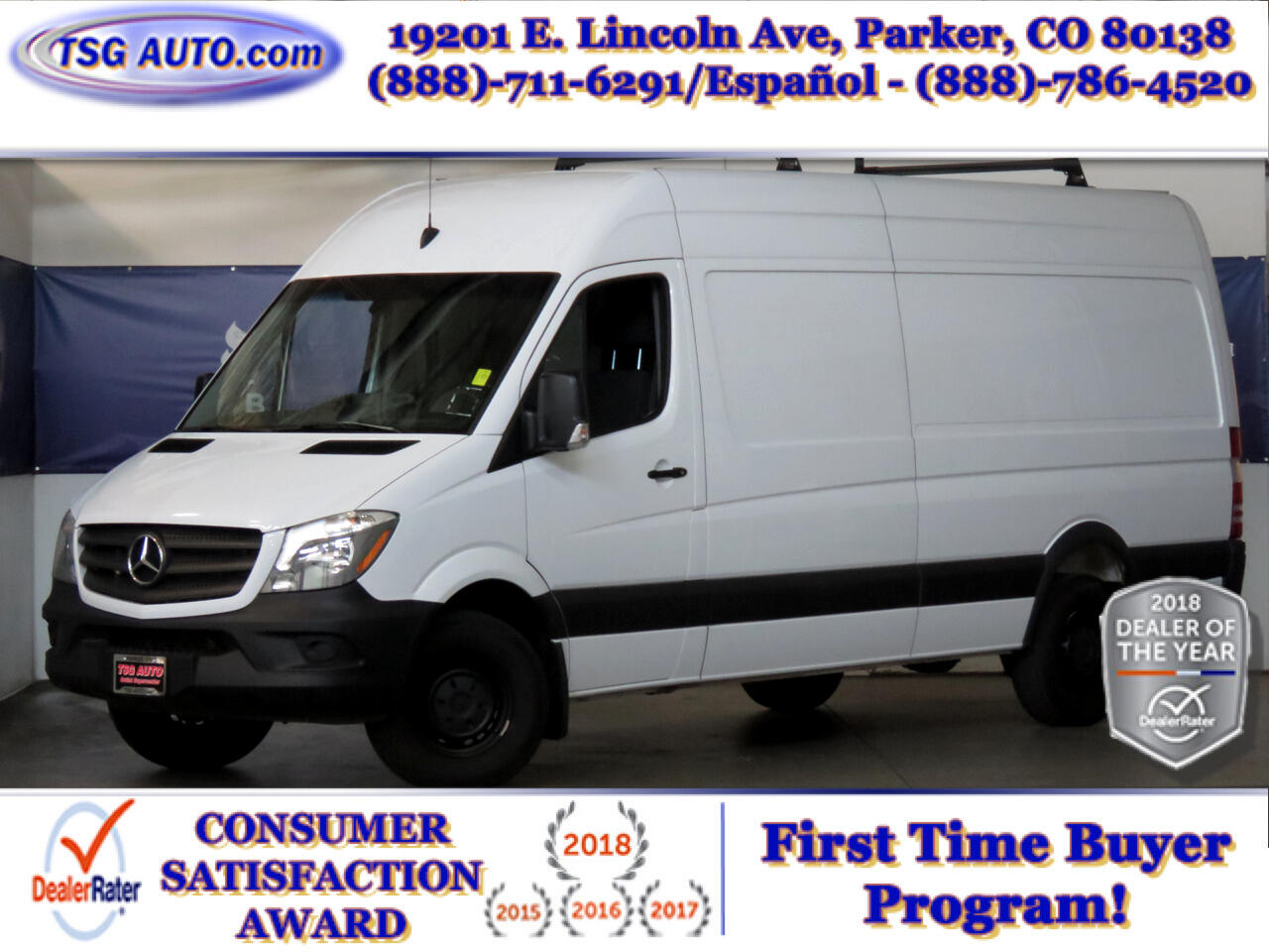 2017 Mercedes-Benz Sprinter Cargo Van 2500 High Roof V6 170