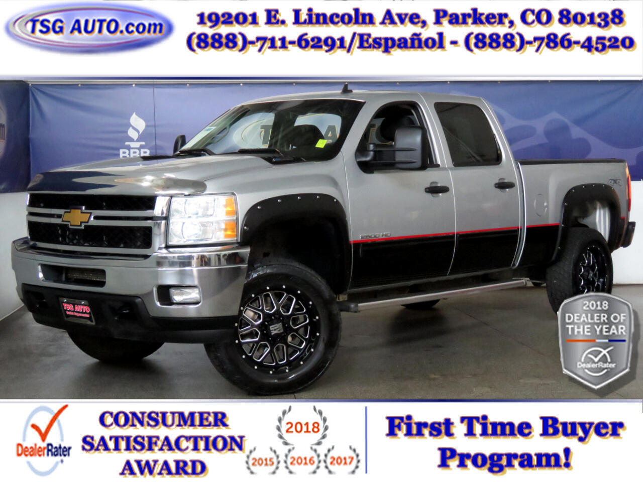 2014 Chevrolet Silverado 2500HD 4WD Crew Cab LT W/Custom Lift/Wheels/Tires