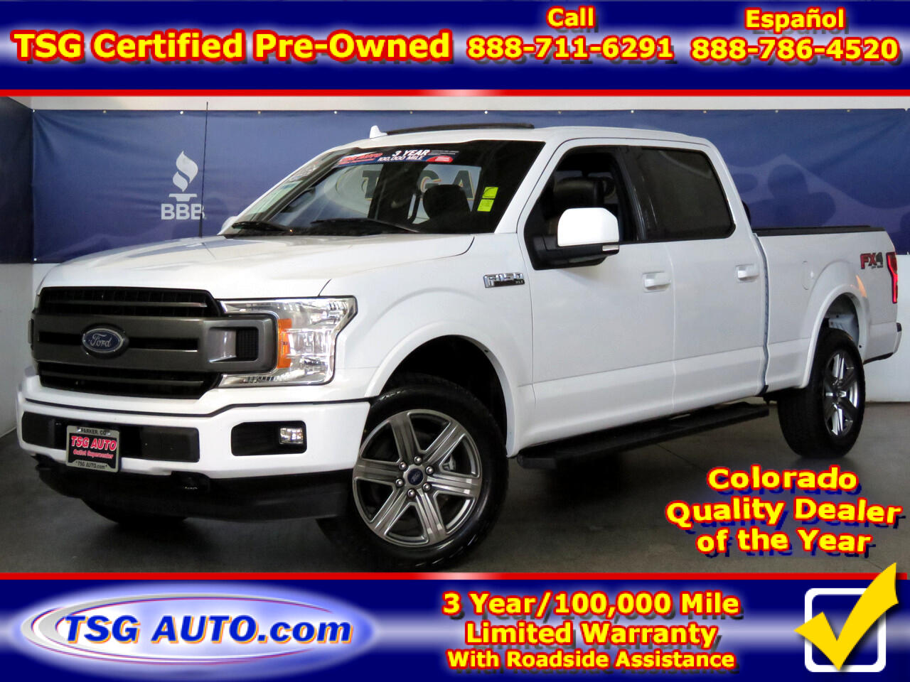 "2018 Ford F-150 4WD SuperCrew 145"" FX4 w/ Leather/Sunroof"