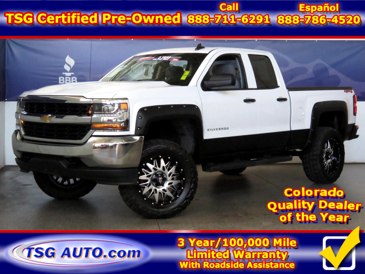 2018 Chevrolet Silverado 1500 4WD Double Cab W/Custom lift/Wheels/Tires