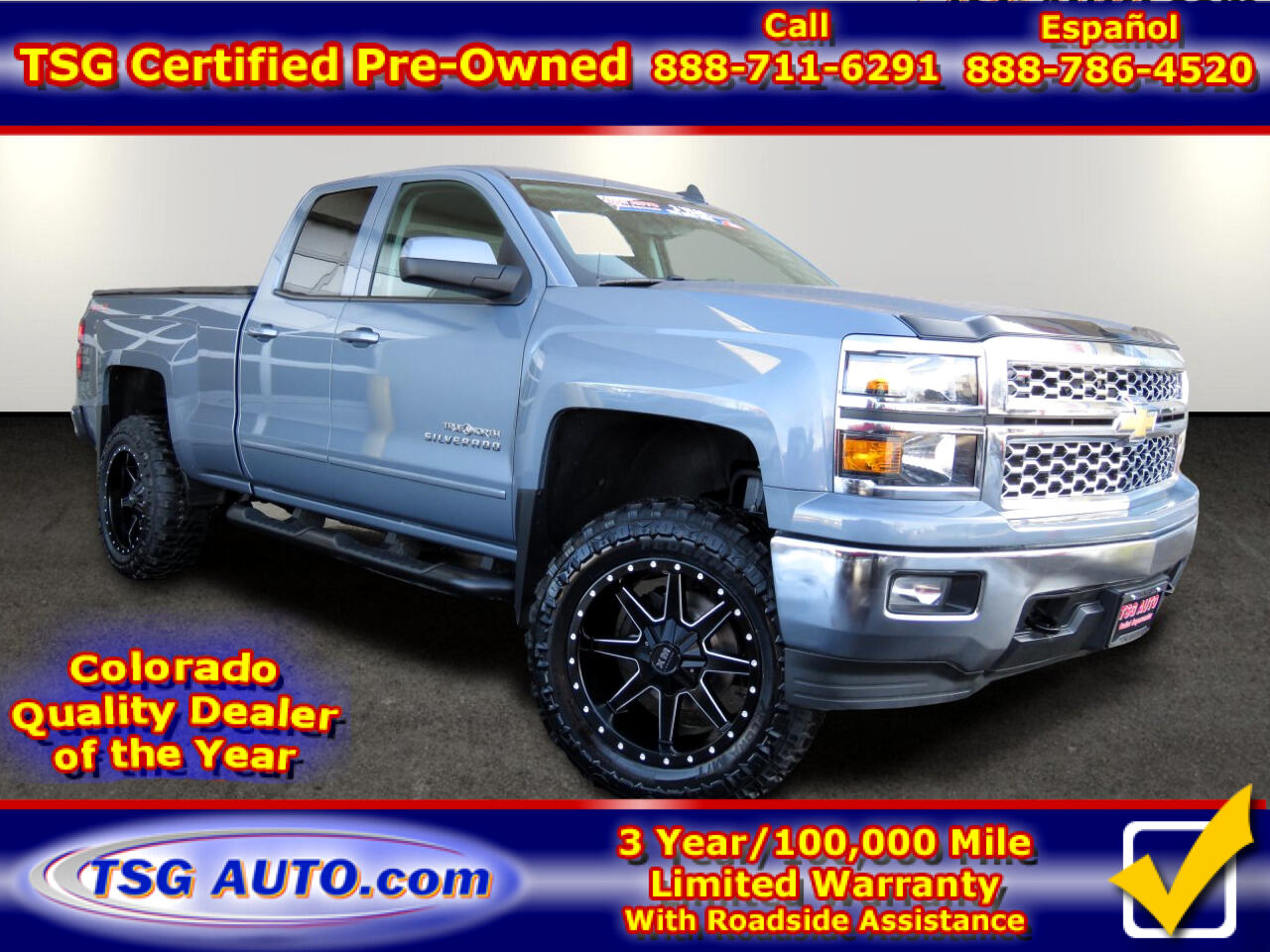 2015 Chevrolet Silverado 1500 4WD Double Cab LT W/Custom Lift/Wheels/Tires