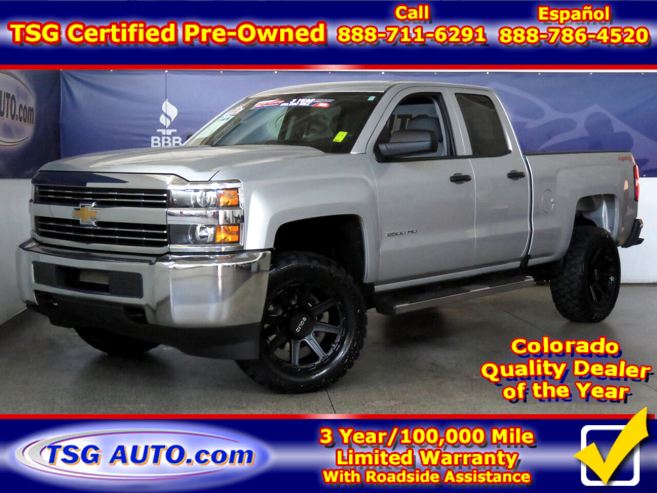 2016 Chevrolet Silverado 2500HD 4WD Double Cab