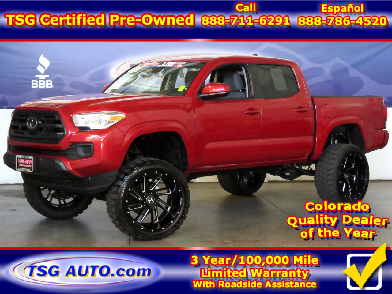 2019 Toyota Tacoma 4WD SR5 Double Cab 4WD W/Custom Lift/Wheels/Tires