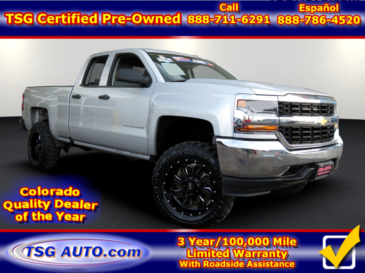 2016 Chevrolet Silverado 1500 4WD Double Cab W/Custom lift/Wheels/Tires