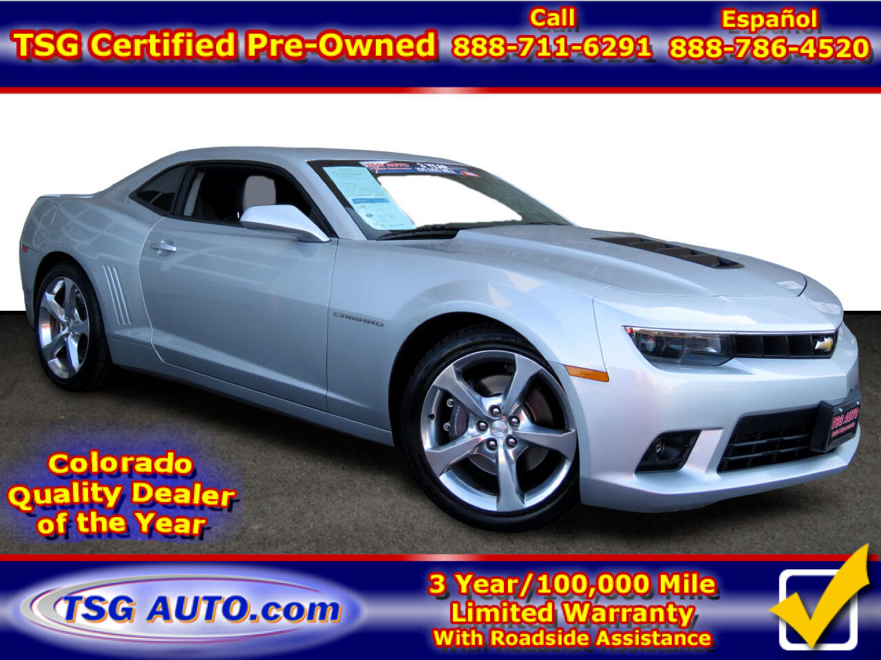2015 Chevrolet Camaro 2dr Cpe SS w/2SS
