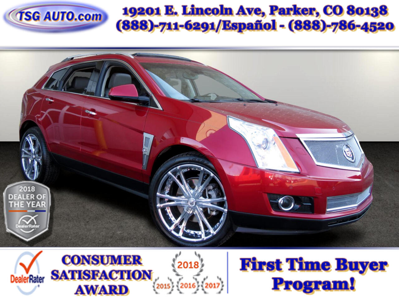 Cadillac SRX AWD 4dr Turbo Performance Collection 2010