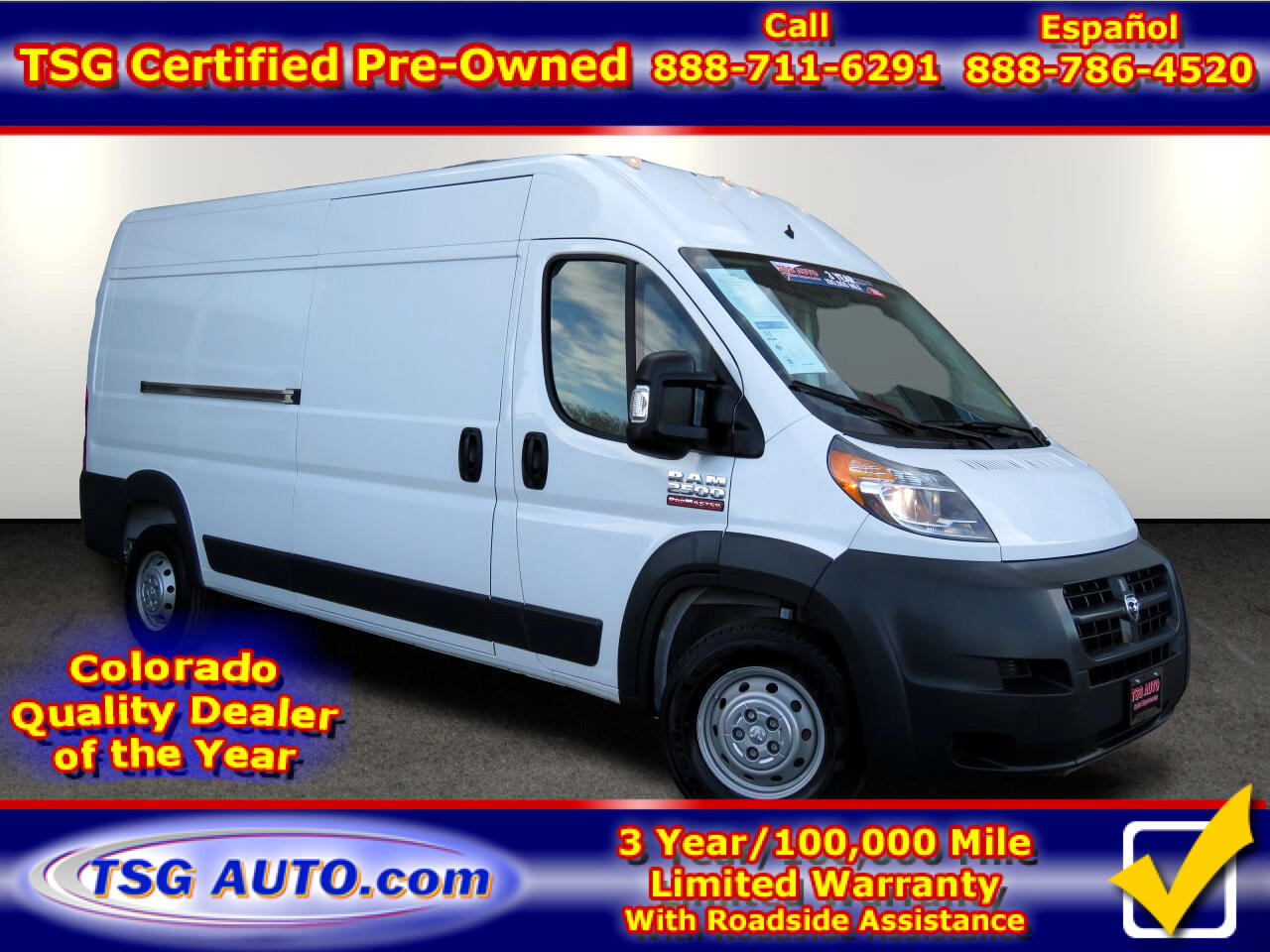 2017 RAM ProMaster Cargo Van 2500 High Roof 159