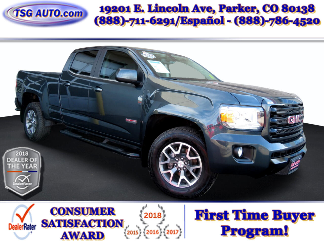 """GMC Canyon 4WD Crew Cab 140.5"""" All Terrain w/Leather 2018"""