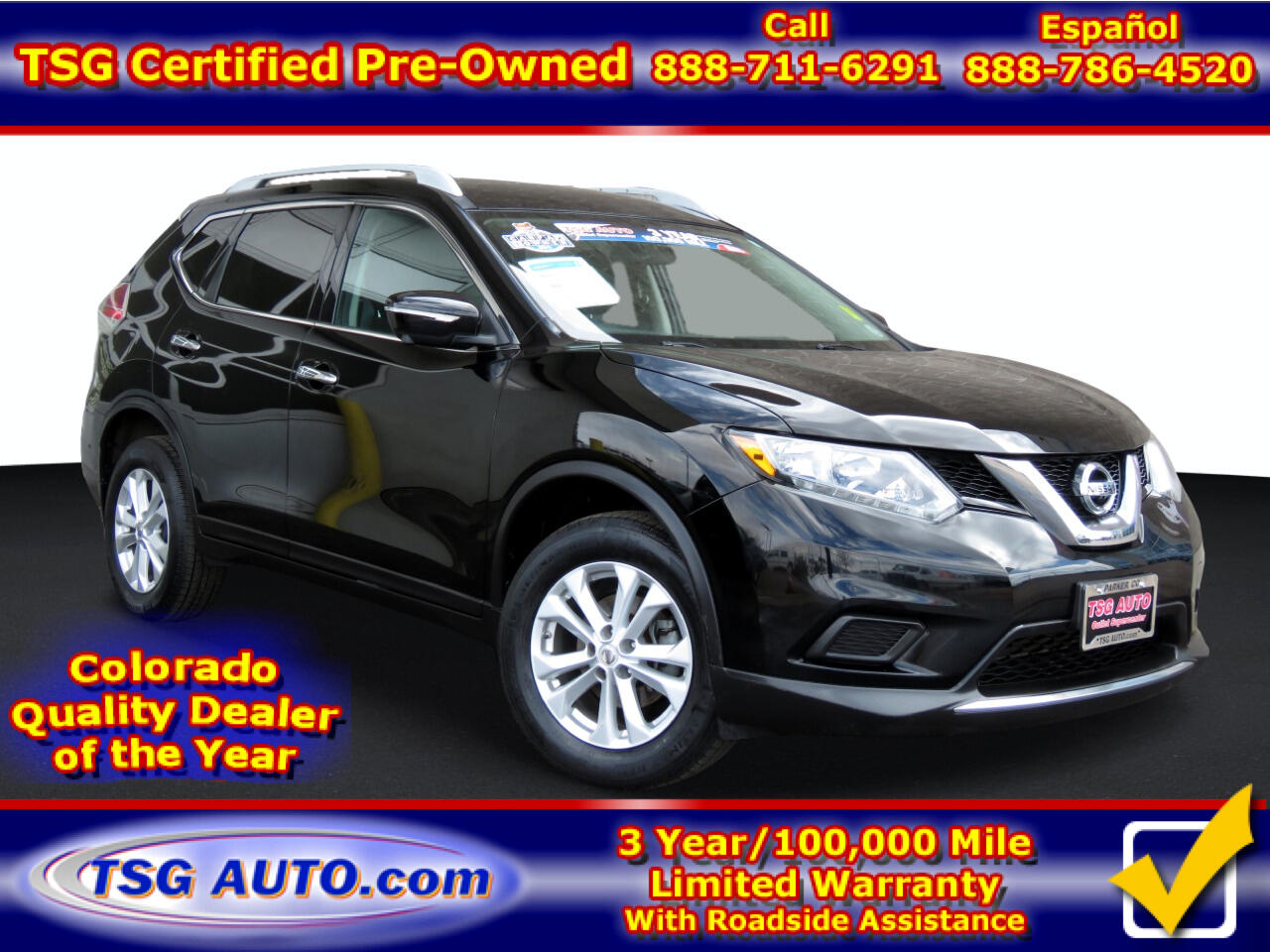 Nissan Rogue AWD 4dr SV 2014