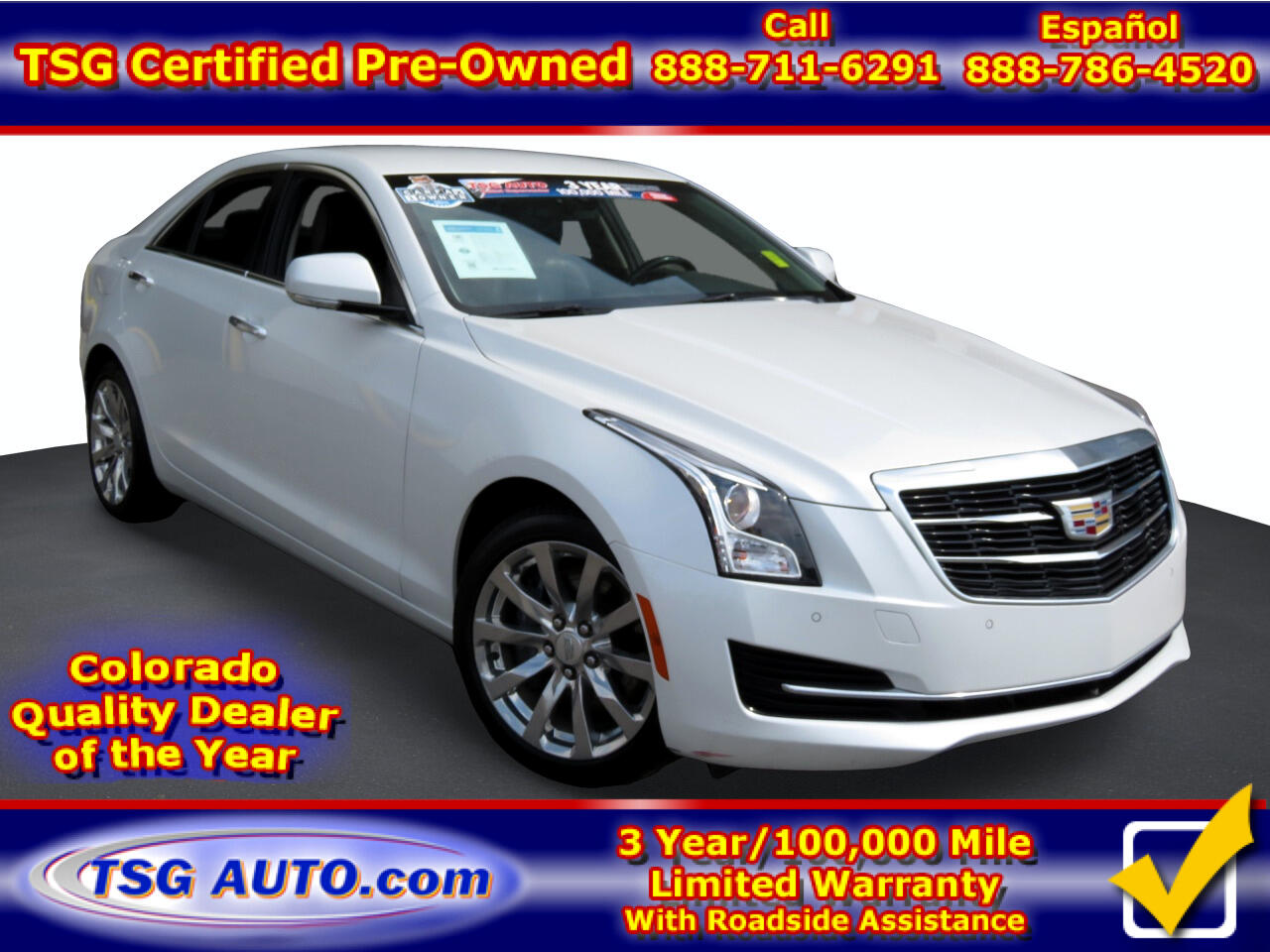Cadillac ATS Sedan 4dr Sdn 2.0L Luxury AWD 2018