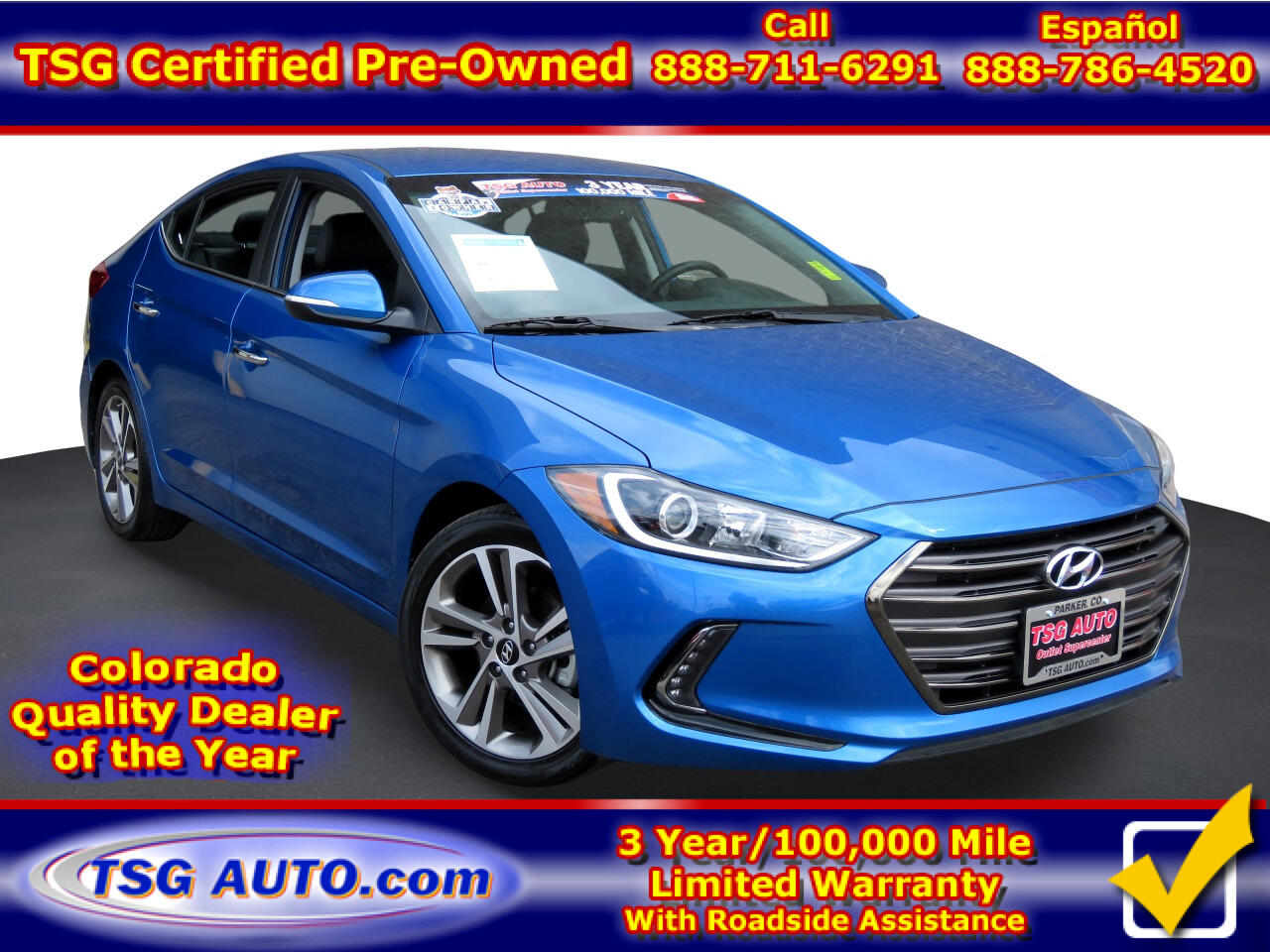Hyundai Elantra Limited 2.0L Auto (Alabama) *Ltd Avail* 2017