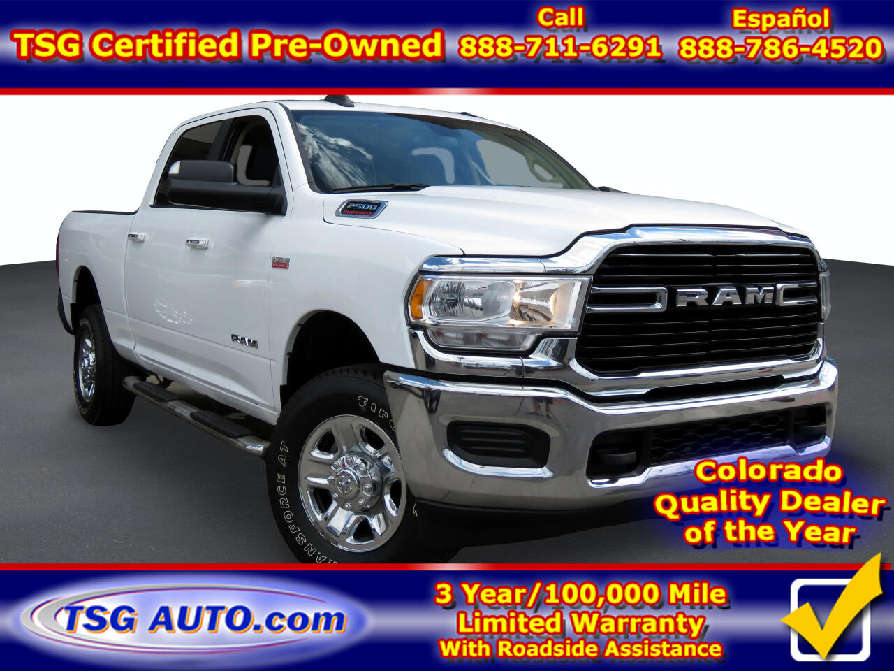 "RAM 2500 Big Horn 4x4 Crew Cab 6'4"" Box 2019"