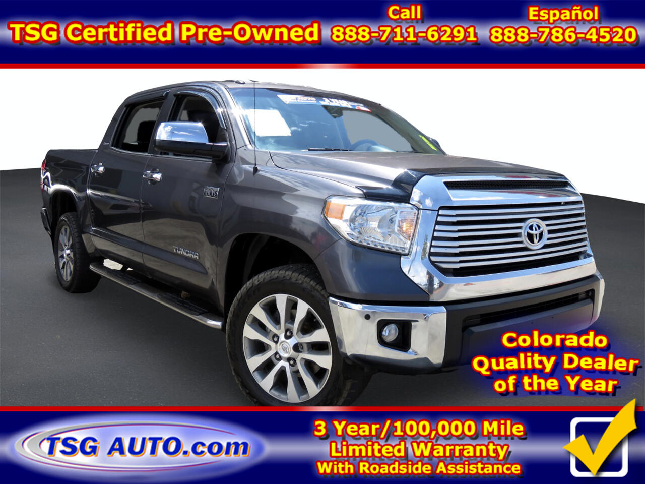 Toyota Tundra 4WD Truck CrewMax 5.7L V8 6-Spd AT LTD (Natl) 2015