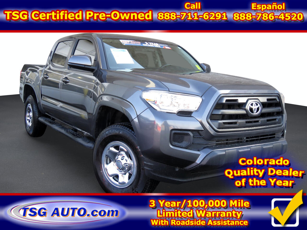 Toyota Tacoma SR Double Cab 5' Bed V6 4x4 AT (Natl) 2017