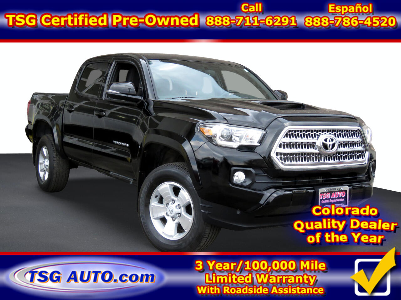 Toyota Tacoma 4WD Double Cab V6 MT TRD Sport (Natl) 2016