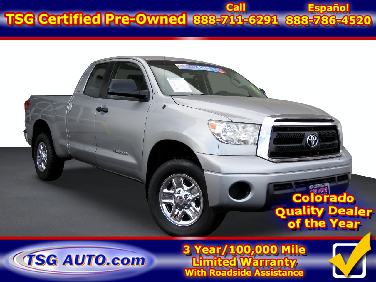 Toyota Tundra 4WD SR5 Double Cab 6.5' Bed 4.6L (Natl) 2012