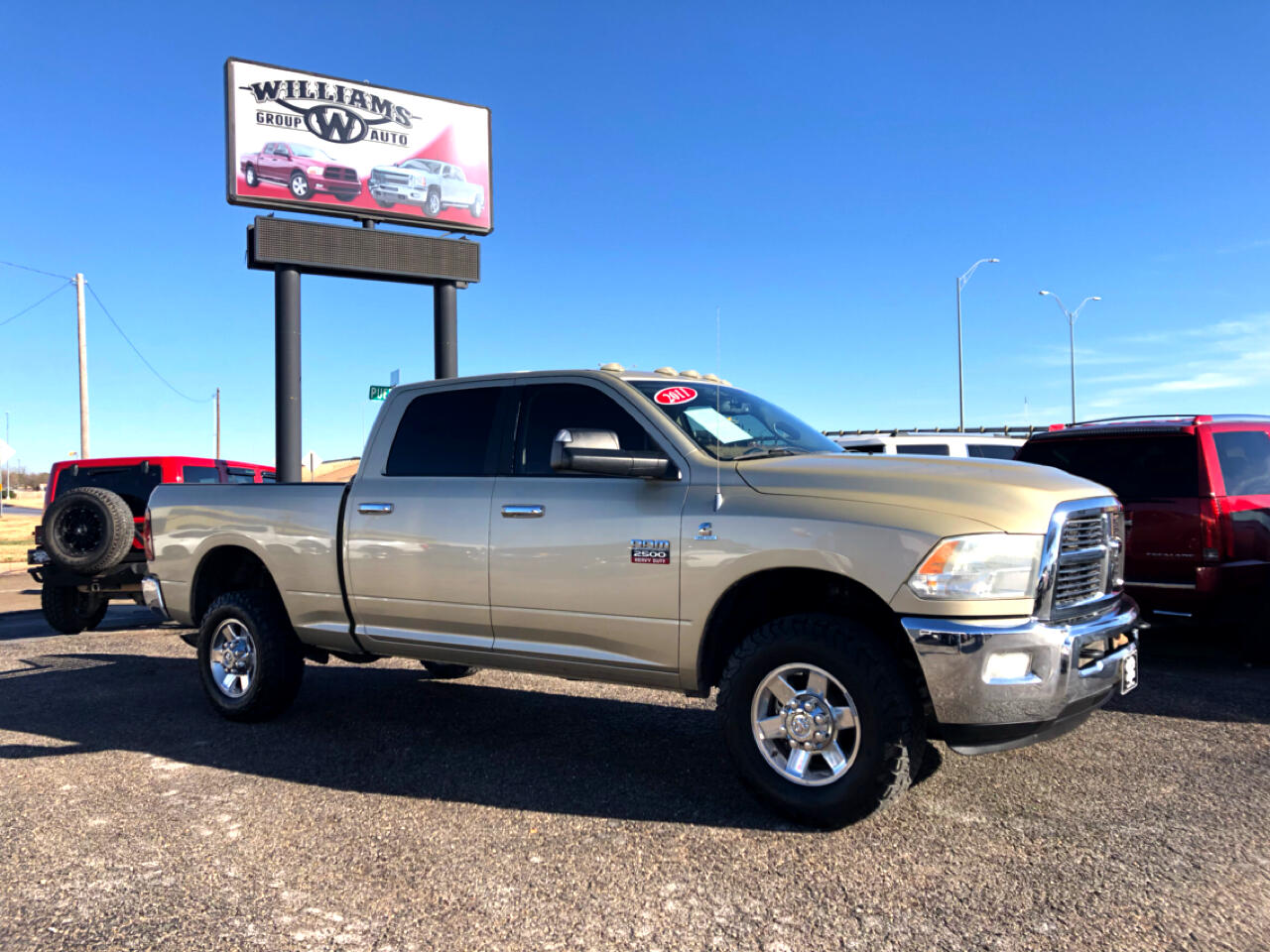 used 2011 ram 2500 crew cab slt 4x4 for sale in abilene tx 79605 williams group auto. Black Bedroom Furniture Sets. Home Design Ideas