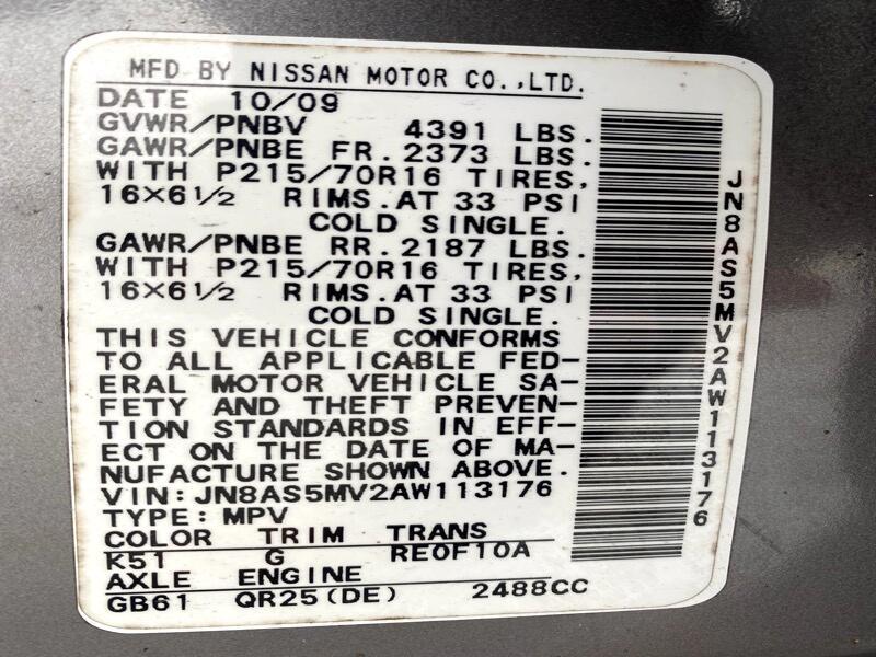 Nissan Rogue S AWD 2010