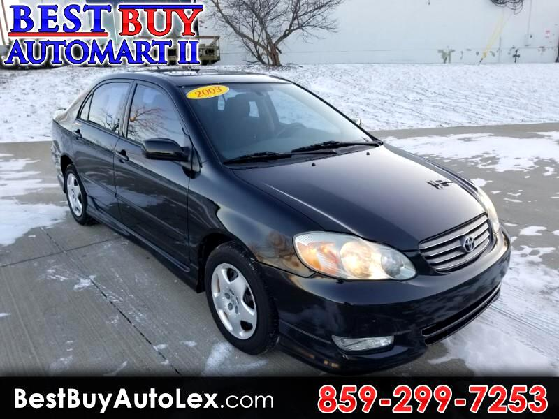 2003 Toyota Corolla 4dr Sdn S Manual (Natl)