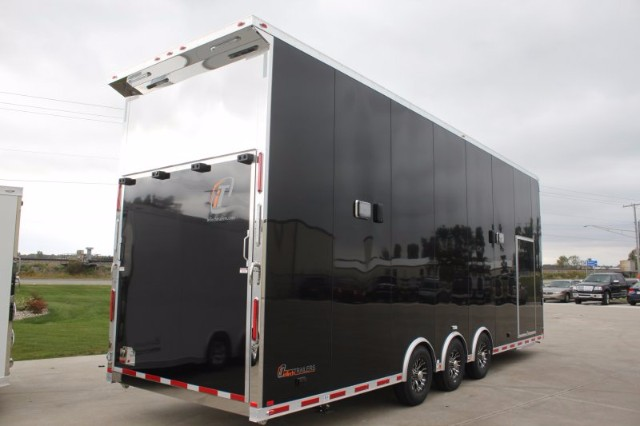 2018 Intech Trailers Stacker 30' Aluminum Race-Ready Stacker w/ 4 Post Lift