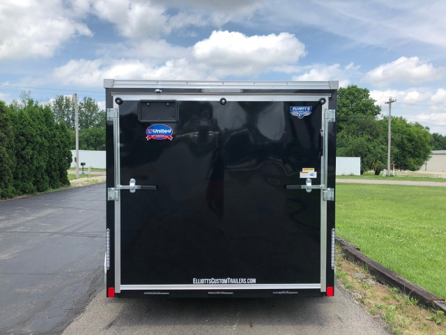 2018 United Trailers XLMTV 7'x12' Motorcycle Trailer with V-Nose