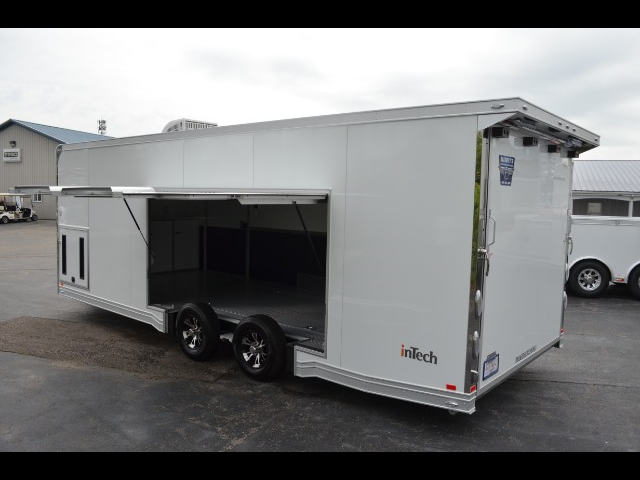 2019 Intech Trailers Icon 24' Aluminum Car Hauler w/ Full Access Escape Door