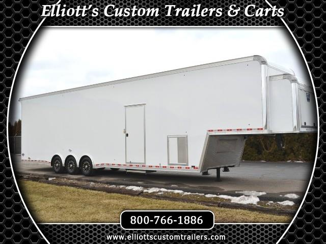 "2018 United Trailers Gooseneck 42' w/9'6"" Interior Height Triple 7000# Axles"