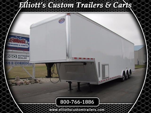 2018 United Trailers Gooseneck 36ft With 9ft Interior Height Sprint Car Trailer