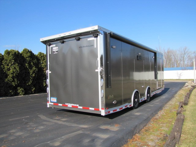 2019 Intech Trailers Icon 28' All-Aluminum Car Hauler with Escape Door