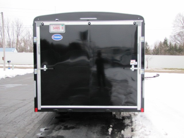 2019 United Trailers Car Hauler Round Top Tandem Spring Axle
