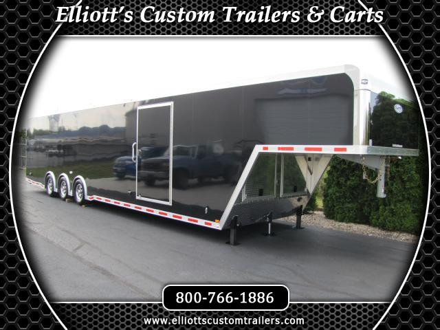 2019 Intech Trailers Icon 42' Gooseneck Car Hauler (2 Escape Doors)