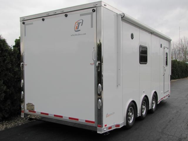 2019 Intech Trailers Icon 28' Aluminum ATV - Snowmobile - Motorcycle Trailer