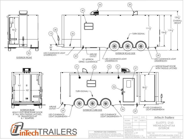 2018 Intech Trailers Icon 28' Aluminum ATV - Snowmobile - Motorcycle Trailer