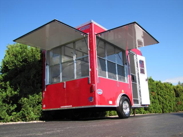 2015 United Trailers Concession Custom 7 x 12 Red Vending Trailer