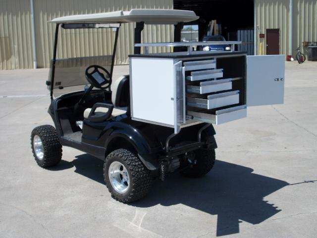 2019 EZ-GO Golf Cart CUSTOM SHORT 5 DRAWER TOOL BOX ADD ON