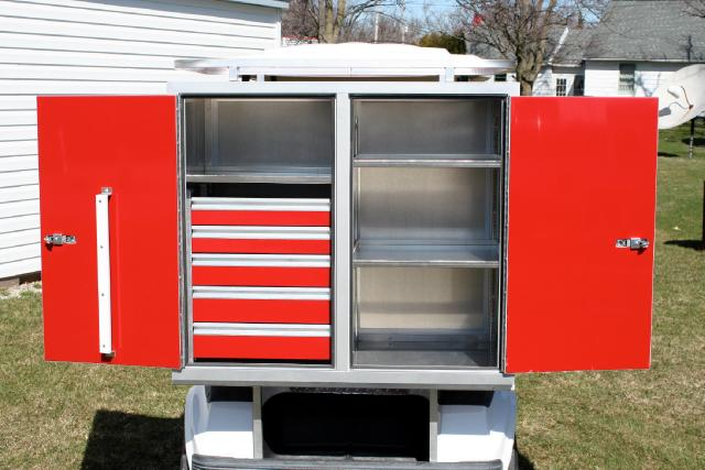 2019 EZ-GO Golf Cart CUSTOM TALL 5 DRAWER TOOL BOX ADD ON