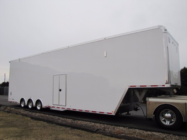 2018 Intech Trailers Gooseneck 44ft All Aluminum Sprint Car Stacker Trailer