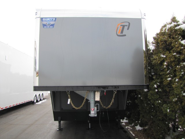 2018 Intech Trailers Gooseneck Custom 40ft Charcoal Grey Gooseneck